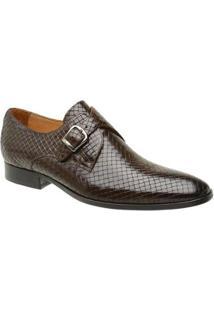Sapato Masculino Malbork Trançado Couro Legítimo Café 60462 - Masculino