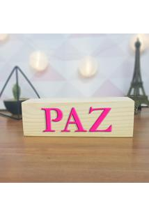 Cubo Decorativo Com Letras Em Acrílico Paz
