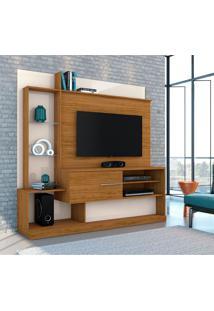 Estante Para Home Theater E Tv Até 55 Polegadas Dimas Naturale E Off White