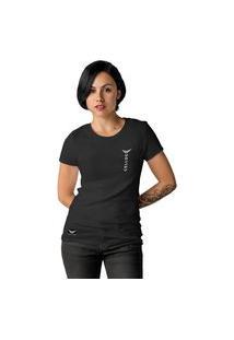 Camiseta Feminina Cellos Vertical Premium W Preto