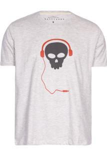 Camisetas Khelf Camiseta Masculina Caveira Cinza