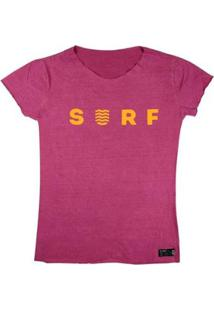 T-Shirt Wss Estonada Orange Neon - Feminino-Rosa