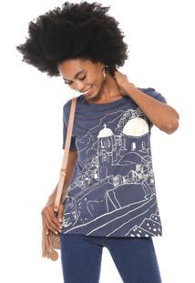 Camiseta Cantão Grécia Azul-Marinho