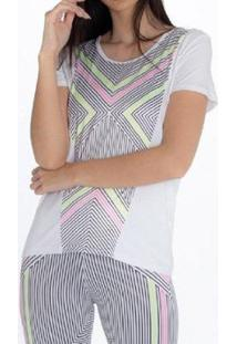Camiseta Rola Moça - Feminino-Branco