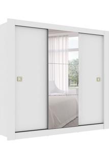 Guarda-Roupa Casal Com Espelho Boracéia 3 Pt 2 Gv Branco