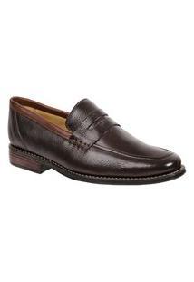 Sapato Social Masculino Loafer Sandro Moscoloni Alpis Marrom Escuro