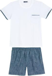 Pijama Infantil Masculino Lua Cheia Bermuda Jeans