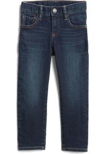 Calça Jeans Gap Infantil Slim Fantastiflex Estonada Azul