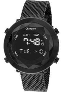 Relógio Champion Digital Ch48028D Feminino - Feminino-Preto