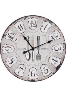Relógio De Parede Talheres Oldway Cinza