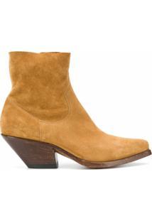 Buttero Ankle Boot Cowboy Com Salto 50Mm - Neutro