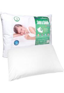 Travesseiro Altenburg Sono & Saude Kids Percal Branco