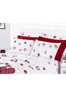 Jogo De Cama Vilela Enxovais Estampado 200 Fios Queen Desire 04 Peças -  Estampa Love 783043e9960