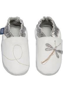 Sapato Feminino Bebê Libélula - Feminino-Branco