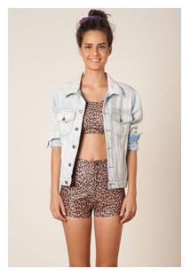 Short Hot Pants Oncinha Est Ocre Oncinha