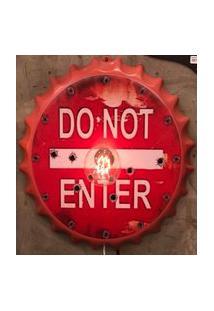 Enfeite Decorativo Tampa Luminária Do Not Plástico Vermelho