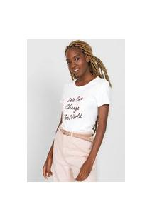 Camiseta Gap We Can Change Off-White