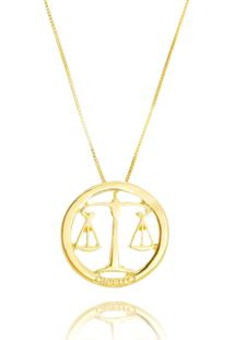 Colar Drusi Profissão Direito Vazado Dourado