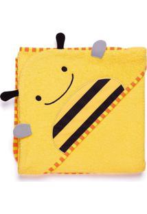 Toalha De Banho Infantil Skip Hop - Linha Zoo - Coleção Abelha - Feminino-Amarelo