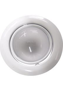Luminária De Teto Embutido Dirigível E-27 60W Com Lâmpada Refletora 127V Branco
