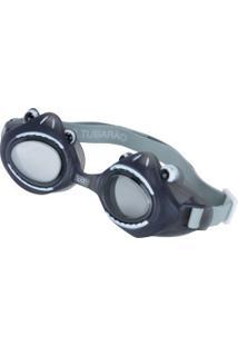 Óculos De Natação Speedo Fun Club Tubarão - Infantil - Cinza Escuro