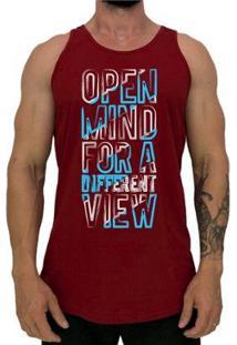 Regata Longline Mxd Conceito Open Mind For A Different View Masculina - Masculino