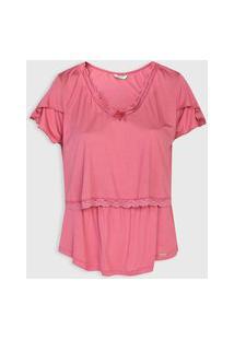 Camiseta Love Secret Amamentaçáo Rosa