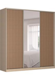 Guarda-Roupa Casal Com Espelho Tunas Iii 3 Pt 3 Gv Noce E Marrom