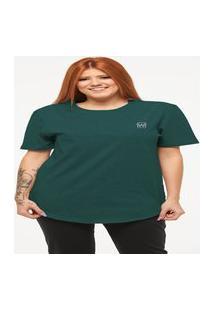 Camiseta Longline Feminino Manga Curta Wooks C1Wf-Verde