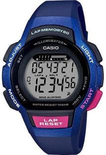 Relógio Feminino Casio Digital Lws - Feminino-Azul