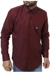 851db84ab6 Camisa Manga Longa Masculina - Masculino-Vinho