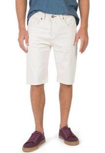 Bermuda Taco Jeans Masculino - Masculino-Off White