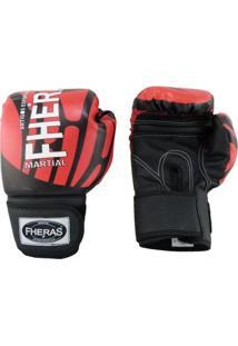 Luva Boxe Muay Thai Top 08 Oz Elite Fheras - Unissex