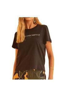 Camiseta Forum Comfort Preta Feminina