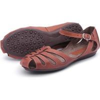 d96e98e73 Sandália Sapatilha Feminina Top Franca Shoes - Feminino-Marrom