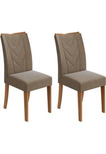 Conjunto Com 2 Cadeiras Atacama L Rovere E Marrom