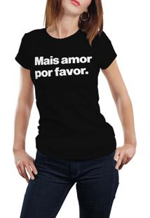 Camiseta Hunter Mais Amor Por Favor Preta