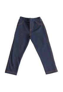 Calça Fake Jeans It Basic Jeans Preto