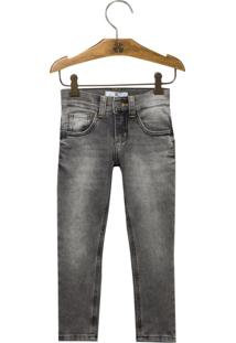 Calça John John Kids Skinny Benjamin Moletom Jeans Preto Masculina (Jeans Black Claro, 16)