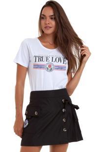 Camiseta Joss Selfie Queen Branco