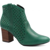 Ankle Boot Verde Ziper feminina   Shoes4you aaa8cda02b