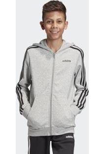 Jaqueta Infantil Adidas Com Capuz Masculina - Masculino-Cinza