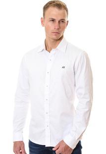 Camisa Armani Exchange Masculina Detail Branca
