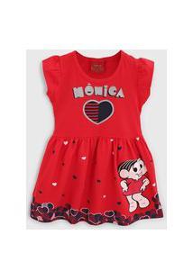 Vestido Brandili Infantil Monica Vermelho