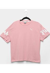 Camiseta Infantil Puma Alpha Feminina - Feminino-Rosa