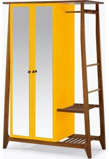 Armário/Roupeiro Multiuso Stoka - 2 Portas Amarelo Laca M40