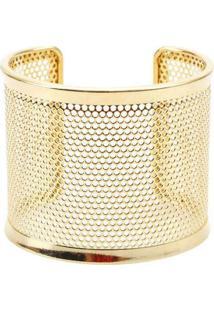 Pulseira Bracelete Com Textura De Furinhos Pratead