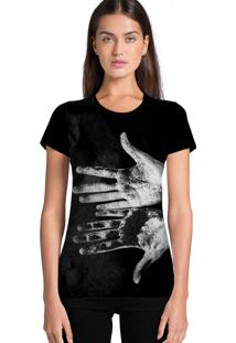 Camiseta Feminina Ramavi Mãos Manga Curta - Kanui