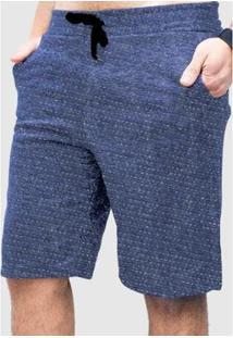 Bermuda Basica De Moletom Suffix Bolso Jeans Masculina - Masculino-Azul Claro