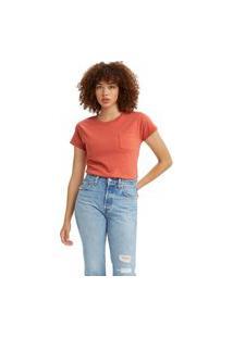 Camiseta Levi'S Arlo Garment Dye Crew Laranja